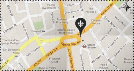 Cafe Colbert Sloane Square Map