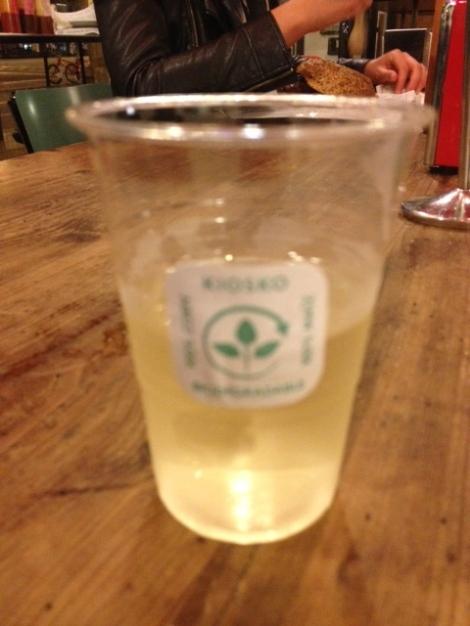WNE IN A 100% BIODEGRADABLE PLASTIC GLASS!
