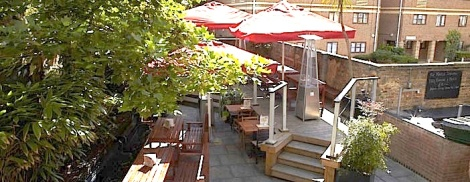 THE LARGE GARDEN AT THE JAM TREE CHELSEA