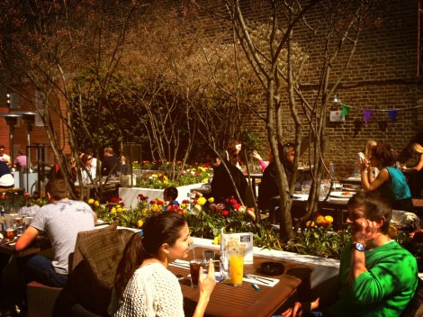 THE SUN -SOAKED GARDEN AT THE JAM TREE CLAPHAM