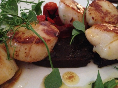 ONE OF OUR TOP DISHED OF THIS SUMMER - SCALLOPS AND BLACK PUDDING