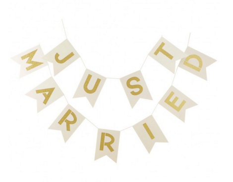 'Just Married' Bunting