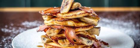 Caramelised Banana and Smokey Bacon Pancakes!