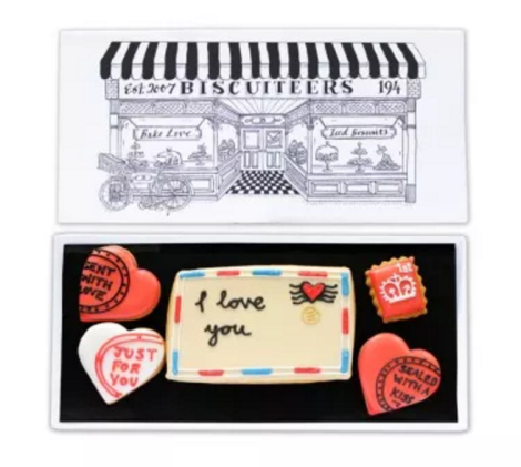 I Love You Postcard Biscuits